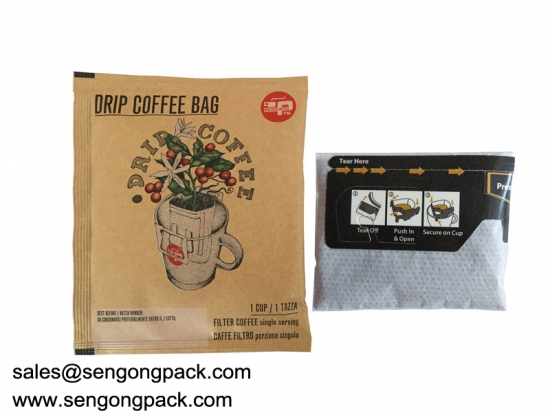 Costa Rica Drip Coffee Bag Packing Machine with Outer Envelope