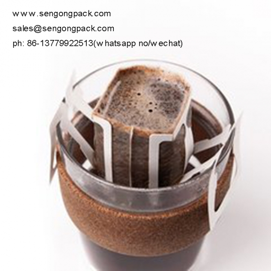 Drip Bag Packing Machine for Canephora/Robusta Caffee with Outer Envelop
