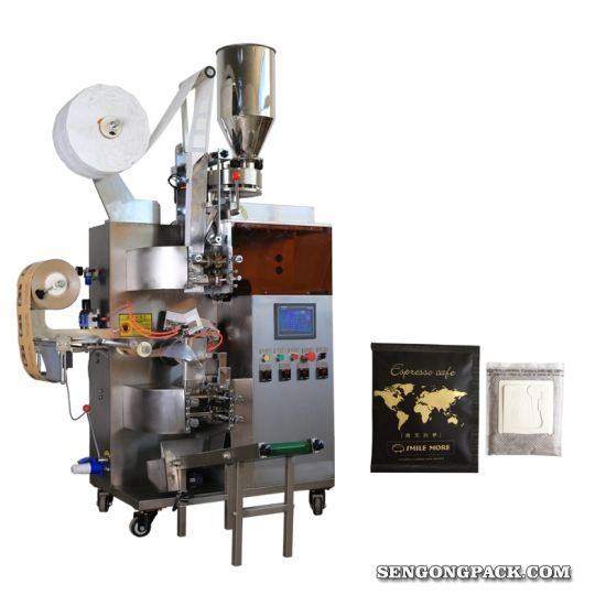 Colombia Armenia Drip Coffee Bag Packing Machine with Outer Envelope