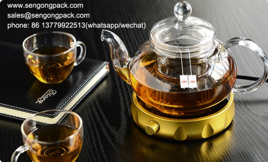 pyramid  Wax Gourd Tea  bag with tag and string packing machine